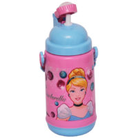 Disney Cinderella Princess Plastic Insulated Sipper Bottle, 500ml, Multicolour (HMLZSB 72204-CIN)