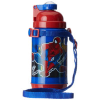 Marvel Spider Man Plastic Insulated Sipper Bottle, 500ml, Multicolour (HMLZSB 00704-SPM)