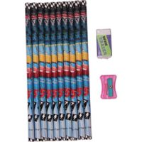 Disney Cars Pencil 10 Pcs With Eraser&Sharpener (1x12)