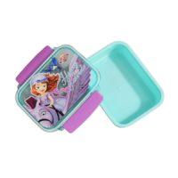 Disney Sofia the First Plastic Lunch Box, 400ml, Blue (HMGSLB 60504-SF)