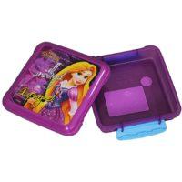 Disney Rapunzel Plastic Lunch Box, 330ml, Violet/Yellow
