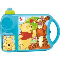 Disney Pooh Plastic Canteen Set, 2-Pieces, Multicolour