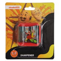 HMI Original Disney & Marvel Characters Double Hole Tub Pencil Sharpener, Pack of 4 pieces (Motu Patlu)