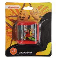 HMI Original Disney & Marvel Characters Double Hole Tub Pencil Sharpener, Pack of 4 pieces (Motu Patlu)