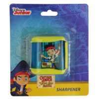 HMI Original Disney & Marvel Characters Double Hole Tub Pencil Sharpener, Pack of 4 pieces (Jake and Pirates)