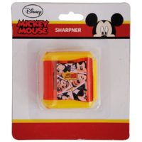 HMI Original Disney & Marvel Characters Double Hole Tub Pencil Sharpener, Pack of 4 pieces (Mickey Mouse)