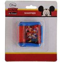 HMI Original Disney & Marvel Characters Double Hole Tub Pencil Sharpener, Pack of 4 pieces (Mickey Mouse Junior)